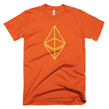Ethereum ETH Yellow Logo Symbol Crypto Shirt Short-Sleeve T-Shirt