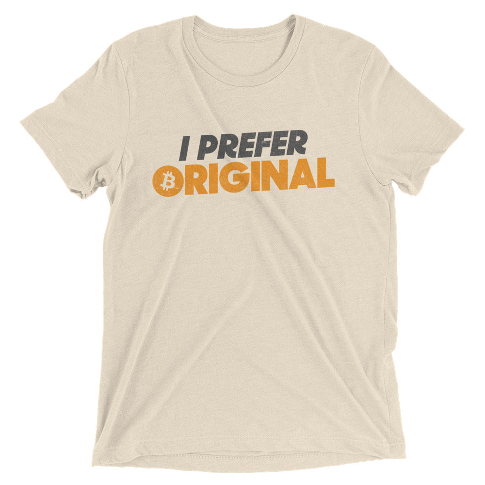 I Prefer Original Bitcoin BTC Logo Symbol Shirt Short sleeve t-shirt