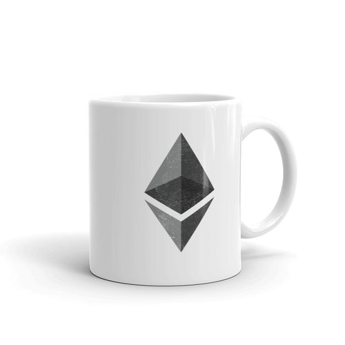 Ethereum Logo Symbol (Distressed) Mug