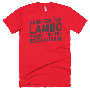 Bitcoin Came For The Lambo Stayed For The Revolution BTC Shirt Short sleeve soft t-shirt