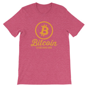 Bitcoin Established 2009 Short-Sleeve Unisex T-Shirt