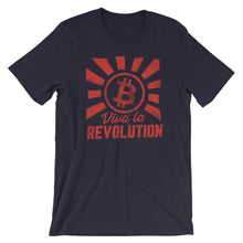 Bitcoin Viva La Revolution Cryptocurrency T Shirt Short-Sleeve Unisex T-Shirt