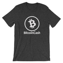 Bitcoin Cash Logo Outline Tshirt | Cryptocurrency Short-Sleeve Unisex T-Shirt