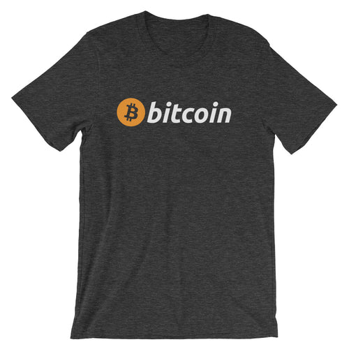 Bitcoin Rounded Classic Logo Short-Sleeve Unisex T-Shirt