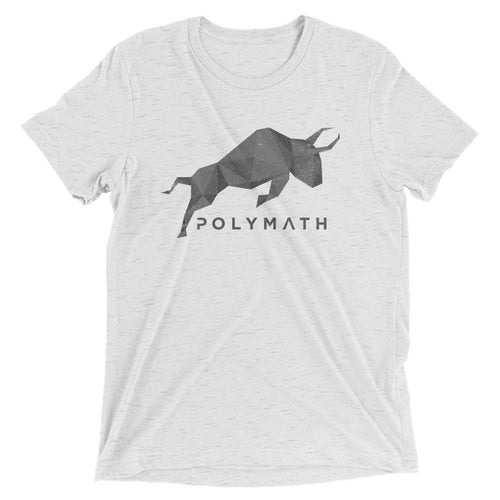 Polymath POLY Coin Gray (Distressed) Logo Symbol Shirt Short sleeve t-shirt