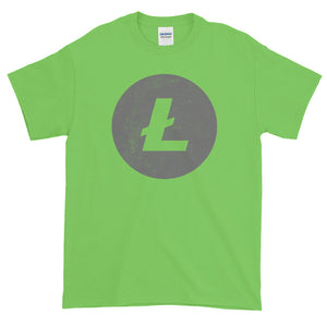 Litecoin Logo (Distressed) Short-Sleeve T-Shirt