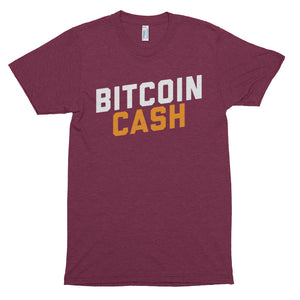 Super Soft American Apparel Bitcoin Cash (BCH) Word Shirt | Cryptocurrency Short sleeve soft t-shirt