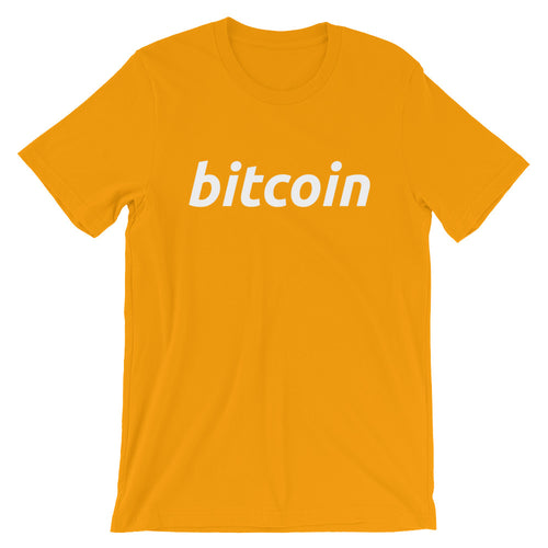 Simple Bitcoin Logo Tshirt - Yello t shirt