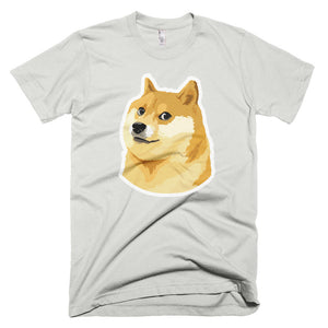Dogecoin DOGE Distressed Crypto American Apparel Shirt Short-Sleeve T-Shirt