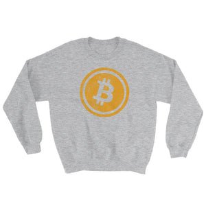 Bitcoin Distressed Logo Sweatshirt