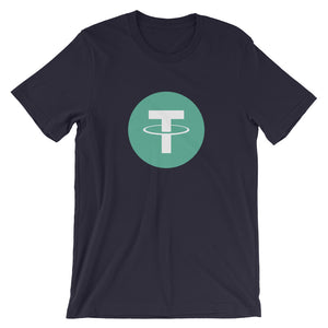 USDT Tether Logo T Shirt | Cryptocurrency Short-Sleeve Unisex Men's / Women's T-Shirt