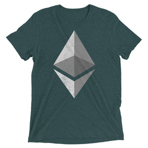 Ethereum Logo (Distressed) Short sleeve t-shirt