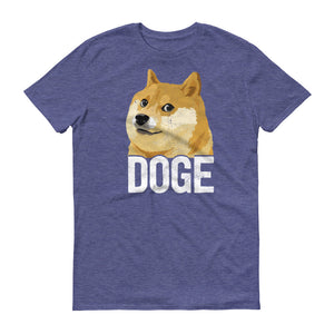 Dogecoin DOGE Distressed Crypto Shirt Short-Sleeve T-Shirt