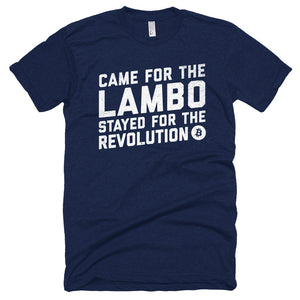 Bitcoin Came for The Lambo Revolution BTC Tshirt - Blue t shirt