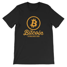Bitcoin Circle Logo Established 2009 Tshirt | Black t shirt