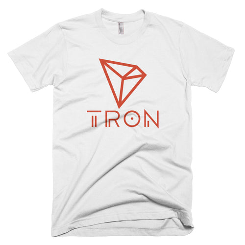 TRON TRX Red New Logo Tshirt | American Apparel Soft Cryptocurrency Short-Sleeve T-Shirt