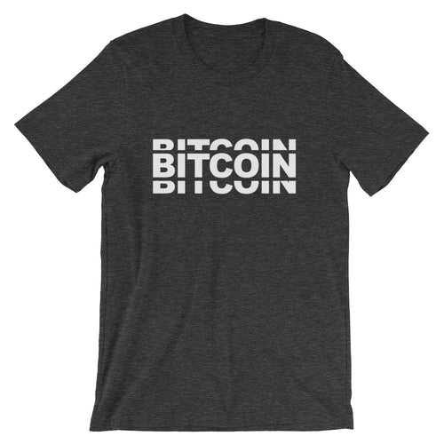 Bitcoin Triple Layer Design Tshirt Short-Sleeve Unisex T-Shirt