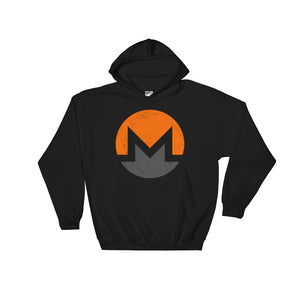 Monero Logo Symbol (Distressed) Hooded Sweatshirt