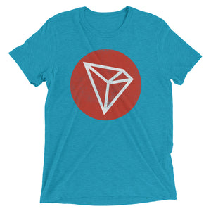 TRON TRX Vintage Texture Look Red Circle Logo Cryptocurrency Short sleeve t-shirt
