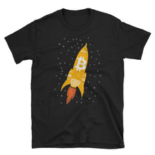 Bitcoin Rocket Ship Moon Mission Tshirt