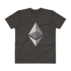 Ethereum Logo (Distressed) V-Neck T-Shirt