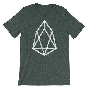 EOS Vintage Look Logo Shirt | Cryptocurrency Short-Sleeve Unisex T-Shirt