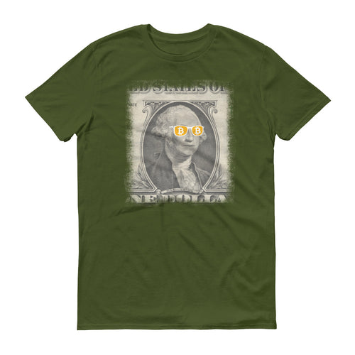 Bitcoin Cool George Washington T Shirt | Short-Sleeve T-Shirt