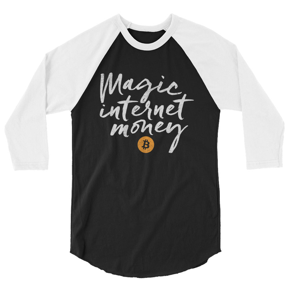 Bitcoin Magic Internet Money 3/4 sleeve raglan shirt