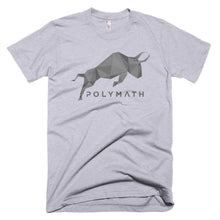 Polymath POLY Coin Gray (Distressed) Logo Symbol Shirt Short-Sleeve T-Shirt