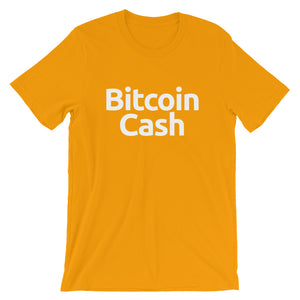 Bitcoin Cash Simple Tshirt | Short-Sleeve Unisex T-Shirt