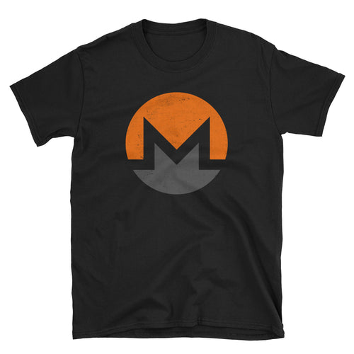 Monero XMR Logo Symbol (Distressed) Short-Sleeve Unisex T-Shirt