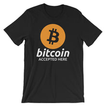 Bitcoin Accepted Here Logo / Symbol Shirt - Heather Black tshirt