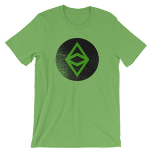 Ethereum Classic Logo Circle Worn Look Tee | Cryptocurrency ETC Short-Sleeve Unisex T-Shirt