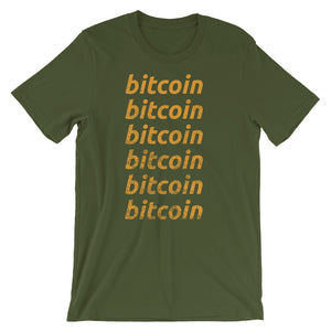 Bitcoin Repeating Super Soft Short-Sleeve Unisex T-Shirt