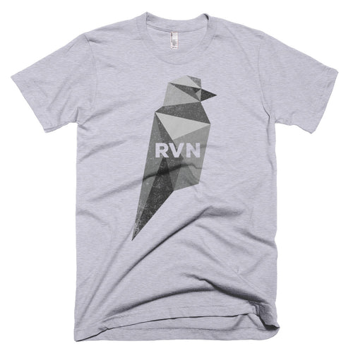 Ravencoin RVN Black Bird Cryptocurrency Shirt (Vintage Look) Short-Sleeve T-Shirt