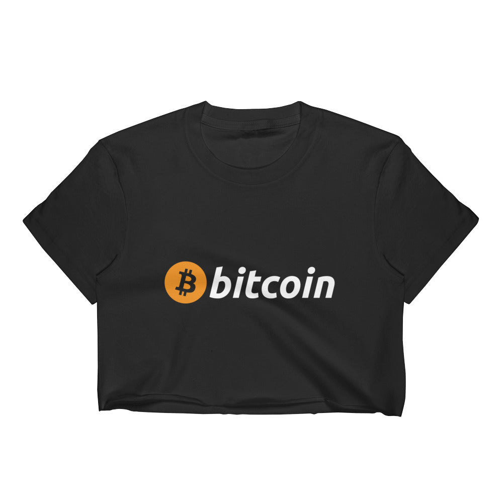 Bitcoin Logo Women's Crop Top