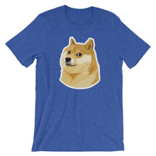 Dogecoin DOGE Distressed Crypto Shirt Short-Sleeve Unisex T-Shirt