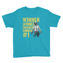 Winner Winner Chicken Dinner Shirt PlayerUnknown's Battlegrounds PUBG Kid's Youth Short Sleeve T-Shirt