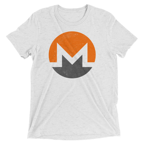 Monero Logo Symbol (Distressed) Short sleeve t-shirt