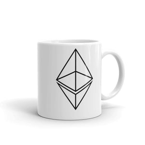 Simple Ethereum Logo Outline Mug