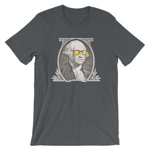 Bitcoin George Washington BTC Cryptocurrency Short-Sleeve Unisex T-Shirt