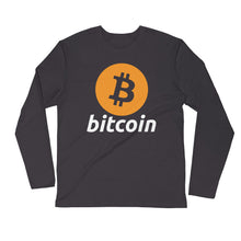 Bitcoin Logo Long Sleeve Fitted Crew