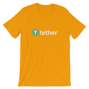 USDT Tether Logo T Shirt | Cryptocurrency Short-Sleeve Men's / Women's Unisex T-Shirt