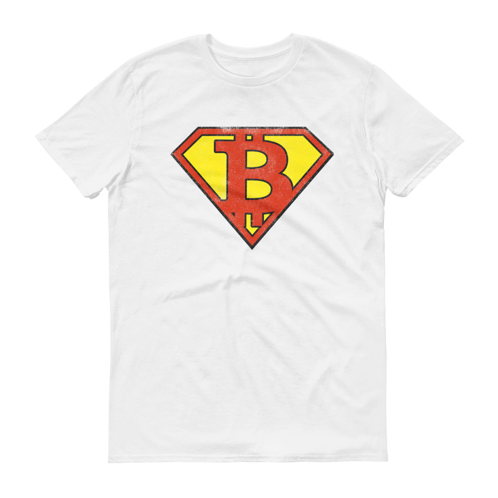 Bitcoin Superman Logo Funny & Unique Tshirt | BTC Short-Sleeve T-Shirt