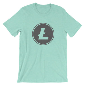 Litecoin LTC Logo Symbol Circle Cryptocurrency Shirt - Short-Sleeve Unisex T-Shirt