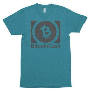 Bitcoin Cash (BCH) Vintage Look Textured Shirt | Cryptocurrency American Apparel Short sleeve soft t-shirt