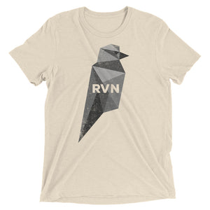 Ravencoin RVN Black Bird Cryptocurrency Shirt (Vintage Look) Short sleeve t-shirt