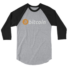 Bitcoin 3/4 sleeve raglan shirt