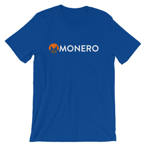 Monero Logo Symbol (Distressed) Short-Sleeve Unisex T-Shirt