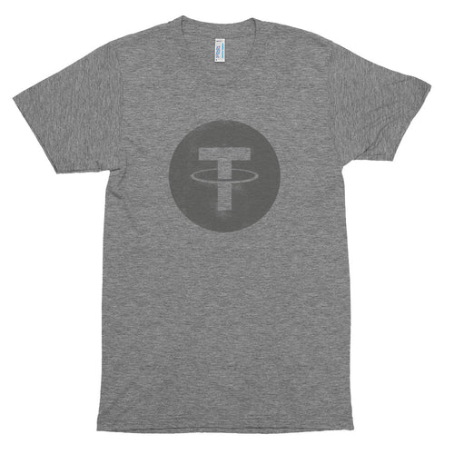 USDT Tether Vintage Look Logo Tee | American Apparel Men's Short sleeve soft t-shirt
